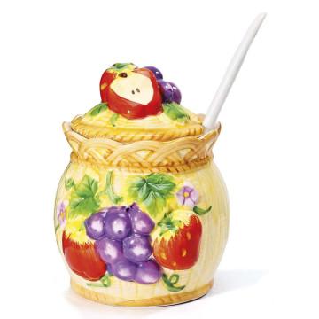 Marmeladentopf mit Mühlhäuser Fruchtaufstrichen