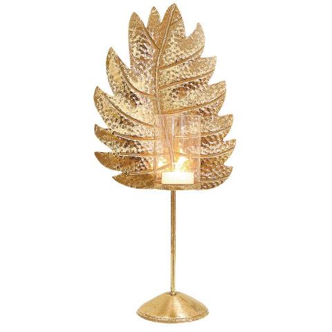 Windlicht »Blatt-gold«