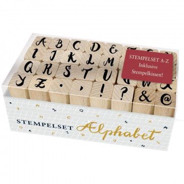 Holzstempel-Set - Alphabet