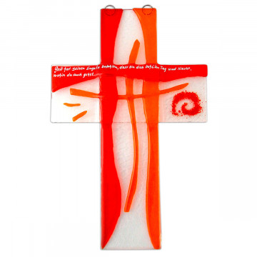Kreuz aus Glas, Orange