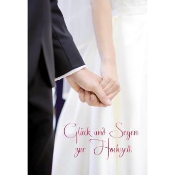 Glückwunschkarte Glück und Segen zur Hochzeit (6 Stück)