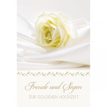 Glückwunschkarte Freude und Segen zur goldenen Hochzeit (6 Stück)