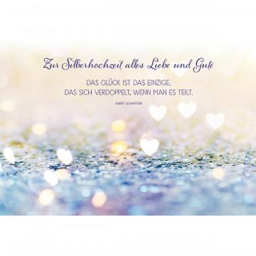 Glückwunschkarte - Zur Silberhochzeit alles Liebe und Gute (6 Stück)