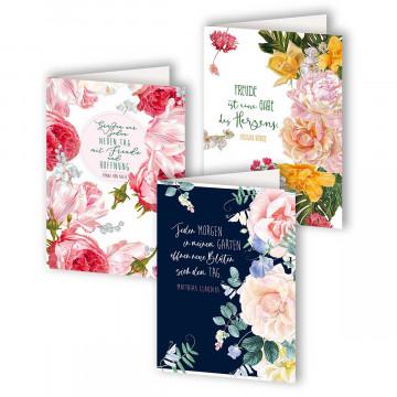 3er-Set Geburtstagskarten Rosen »Die Königin der Blumen«