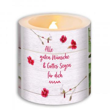 LED Kerze »Alles Gute und Gottes Segen«