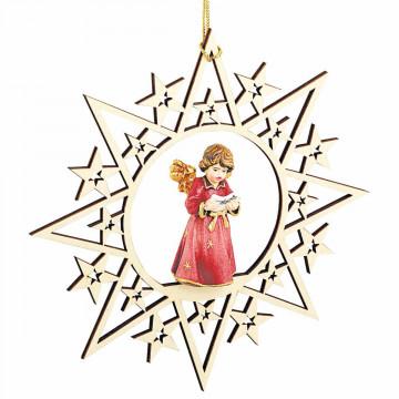 Engel mit Notenblatt im Stern