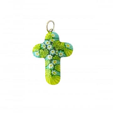 Kreuz-Anhänger »Murano-Glas«