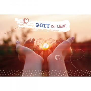 Glückwunschkarte zur Firmung - Gott ist Liebe (6 Stück)