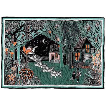 Winternacht im Wald Adventskalender
