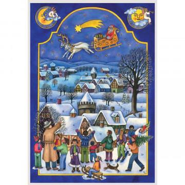 """Adventskalender """"Nikolaus im Schlitten"""""""