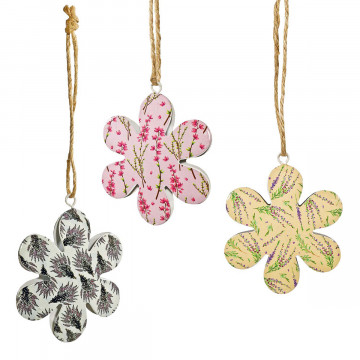 3er-Set Blütenanhänger »Besenheide«