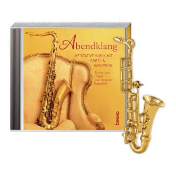 2er-Set CD »Abendklang« und Brosche »Saxophon«