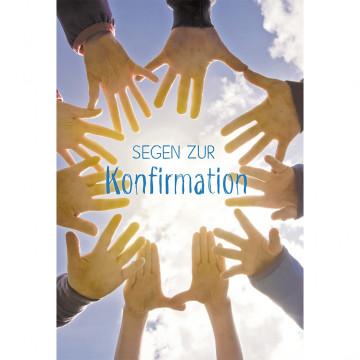 Glückwunschkarte Segen zur Konfirmation (6 Stück)