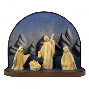 Krippenbogen mit Heiliger Familie und Hirte »Aram«