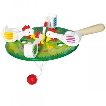 Spielzeug »4 pickende Hühner«