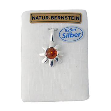 Silberanhänger mit Bernstein
