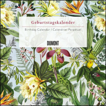 Immerwährender Geburtstagskalender floral - Archive by Portico Designs - Quadrat-Format