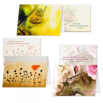 3er Set Trauerkarten »Trost und Zuversicht«