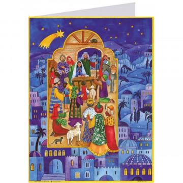 """Postkarten-Adventskalender """"Krippe in Bethlehem"""""""
