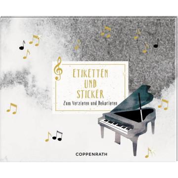 Stickerbuch - All about music - Etiketten & Sticker