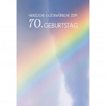 Glückwunschkarte Herzliche Segenswünsche zum 70. Geburtstag (6 Stück)