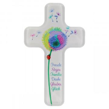 Acrylglas-Kinderkreuz - Pusteblume (1 Stück)