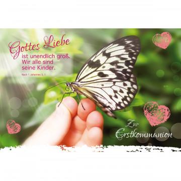 Glückwunschkarte Zur Erstkommunion (6 Stück)
