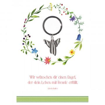 Geburtstagskarte - Wir wünschen dir einen Engel (5 Stück)