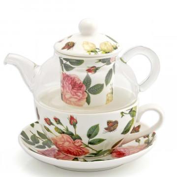 Tea-for-one-Set »Zeit für Rosen«
