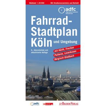 Köln und Umgebung Fahrradstadtplan 1 : 20 000