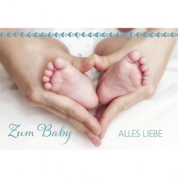 Glückwunschkarte Zum Baby alles Liebe (6 Stück)