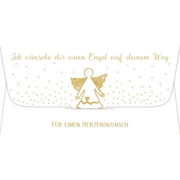Kuvert für ein Geld- oder Gutscheingeschenk - Ich wünsche dir einen Engel auf deinem Weg