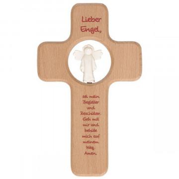 Kinderholzkreuz - Lieber Engel