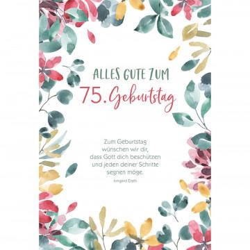 Glückwunschkarte Alles Gute zum 75. Geburtstag (6 Stück)