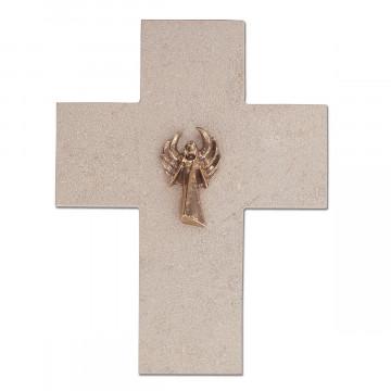 Natursteinkreuz Engel (1 Stück)