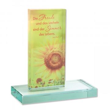 Glasstele Sommer des Lebens (1 Stück)