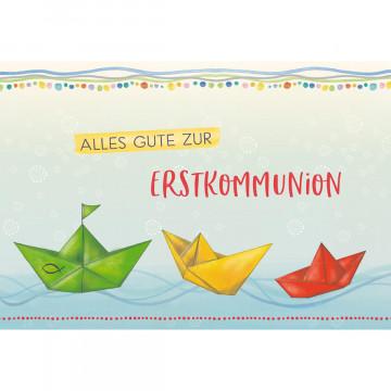 Glückwunschkarte Alles Gute zur Erstkommunion (6 Stück)