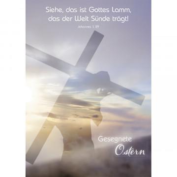 Postkarte Gesegnete Ostern (10 Stück)