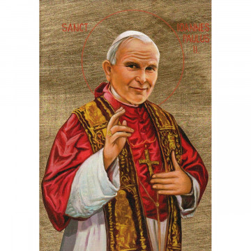 Siebdruckikone »Heiliger Johannes Paul II.«