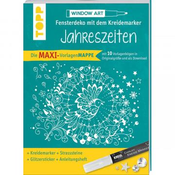 Maxi-Vorlagenmappe Fensterdeko mit dem Kreidemarker - Jahreszeiten. Inkl. Original Kreul-Kreidemarke