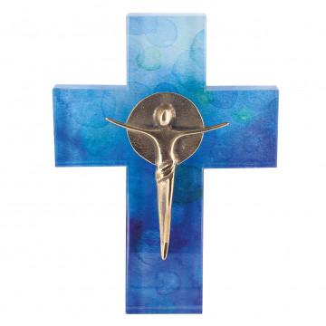 Glaskreuz mit Korpus (1 Stück)