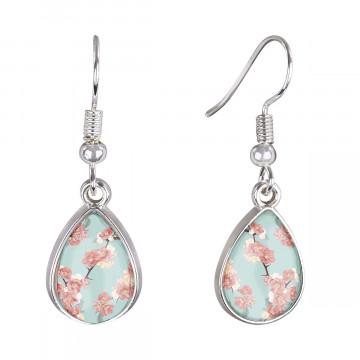 Cabochon-Ohrringe »Kirschblüten«