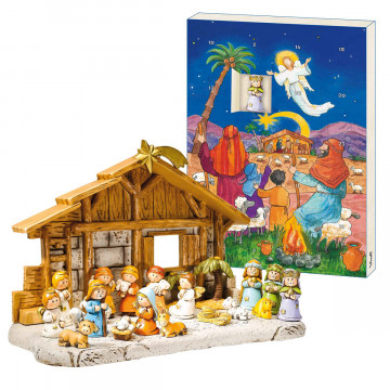 2er-Set Adventskalender »Geburt Christi«