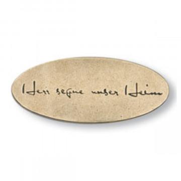Bronze-Haussegen mit Text (1 Stück)