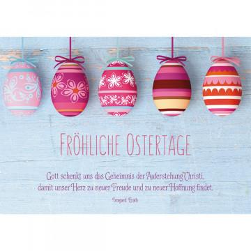 Glückwunschkarte Fröhliche Ostertage (6 Stück)