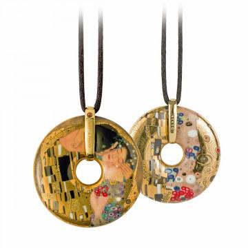 Gustav Klimt-Halskette »Der Kuss«