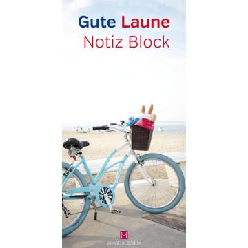 Gute Laune Notiz Block Fahrrad