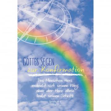 Glückwunschkarte Gottes Segen zur Konfirmation (6 Stück)