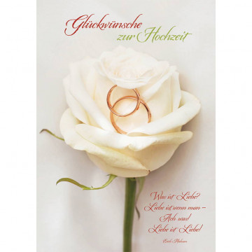 Doppelkarte Glückwünsche zur Hochzeit (6 Stück)
