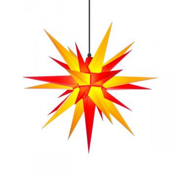 Herrnhuter Stern in gelb-rot